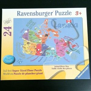 NEW Ravensburger Map of Canada Floor Puzzle Age 3+